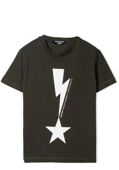 T-SHIRT CON STAMPA NEIL BARRETT KIDS | T-shirt | 027867T082