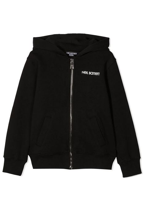 ZIPPED HOODIE  NEIL BARRETT KIDS | Sweatshirts | 027879110