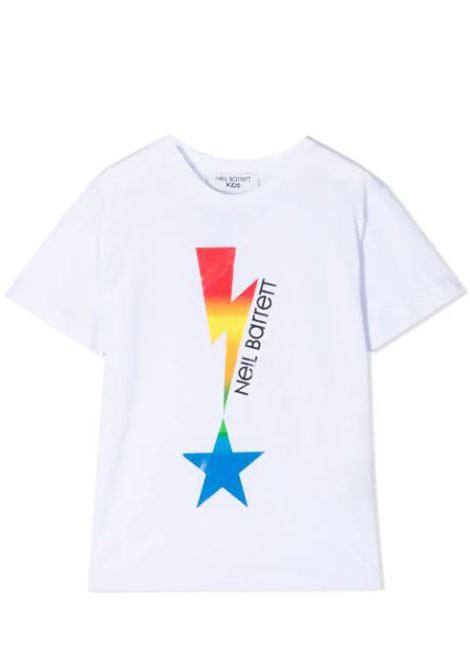 T-SHIRT CON STAMPA NEIL BARRETT KIDS | T-shirt | 027880T001