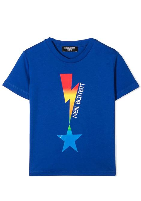 T-SHIRT CON STAMPA NEIL BARRETT KIDS | T-shirt | 027880T130