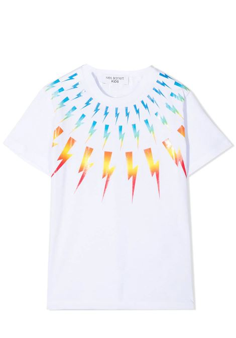T-SHIRT CON STAMPA NEIL BARRETT KIDS | T-shirt | 027886T001