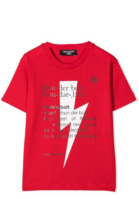 PRINT T-SHIRT  NEIL BARRETT KIDS | T-shirt | 027896T040