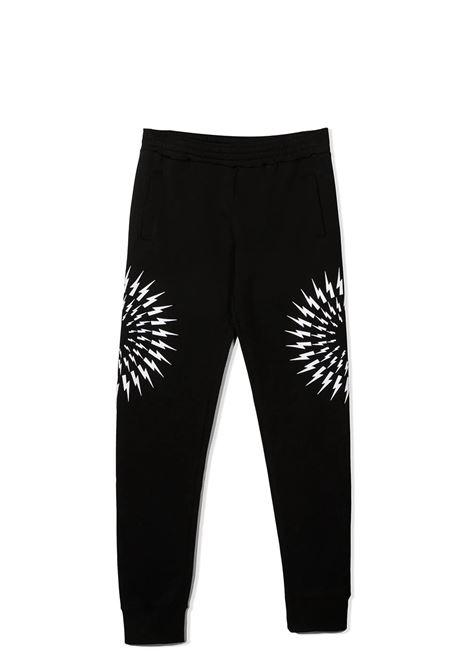 PRINT TRACK TROUSERS NEIL BARRETT KIDS | Trousers | 027897T110
