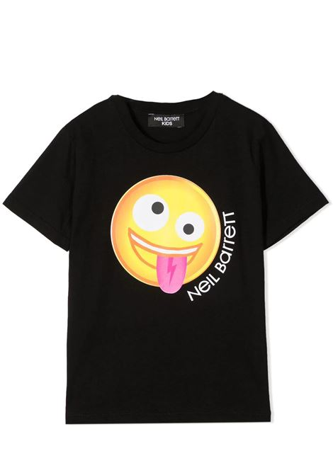 T-SHIRT CON STAMPA NEIL BARRETT KIDS | T-shirt | 027900T110