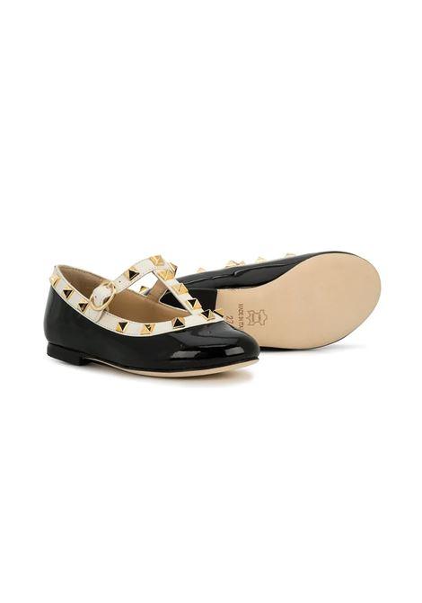GLOSSY BLACK BALLERINAS PROSPERINE | T60101