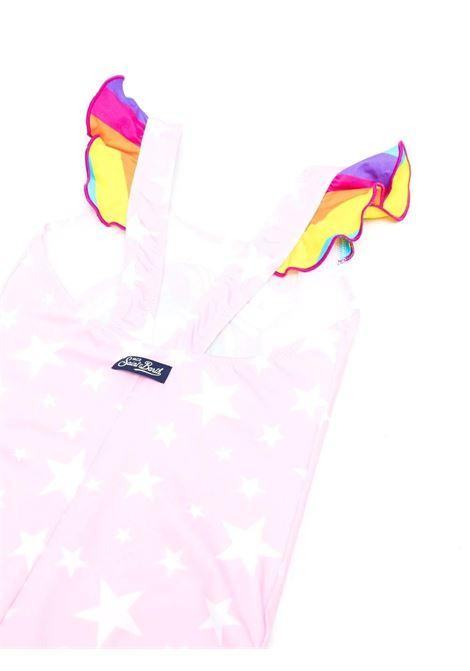 Girl's one-piece swimsuit with print Saint barth kids   CAROLCATICORN21