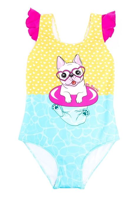 Girl's one-piece swimsuit with print Saint barth kids | Swimsuits | CAROLCRAZY DOG 31