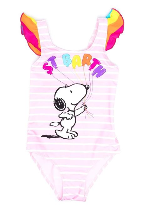 Girl's one-piece swimsuit with snoopy print Saint barth kids | Swimsuits | CAROLSNOOPY BALLOON 21