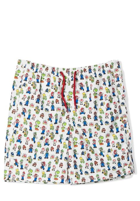 Boy's swimsuit with Mario bros print Saint barth kids | Swimsuits | JEAN LIGHTINGSUPER MARIO GROUP01