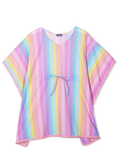 Multicolored baby girl caftan Saint barth kids | Kaftans | KATETSTRIPE SHADE