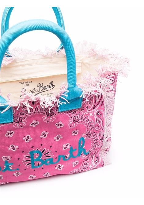Woman bag with pattern Saint barth | VANITYEBNR73