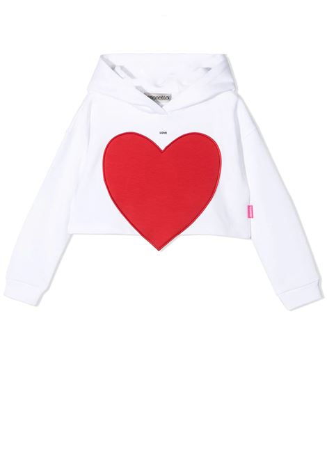 SWEATSHIRT WITH HEART APPLICATION SIMONETTA | Sweatshirts | 1O4010 OC850100