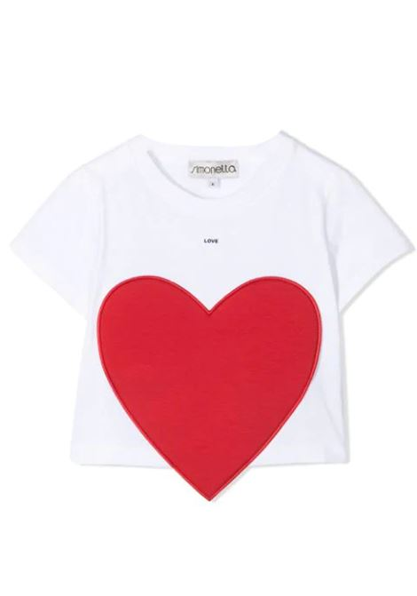 T-SHIRT WITH HEART APPLICATION SIMONETTA | T-shirt | 1O8091 OA060100