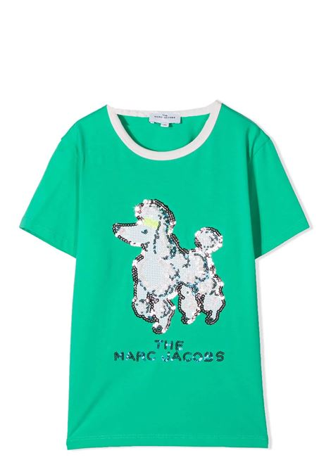 T-SHIRT CON STAMPA IN PAILLETTES THE MARC JACOBS KIDS | T-shirt | W15558T696