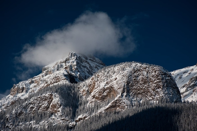 Snowy Mountain Top Winter Banff