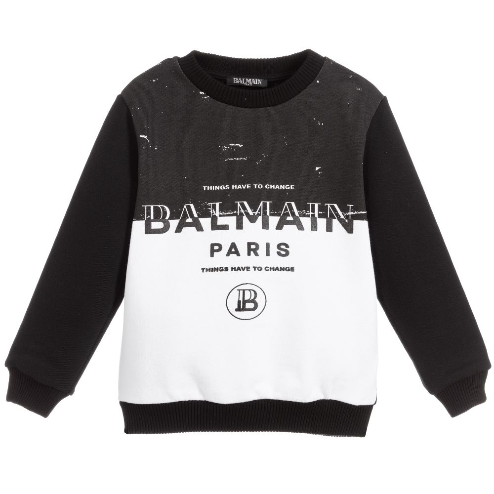 Felpa Balmain kids BALMAIN PARIS KIDS   -108764232   6M4510MA010100NE