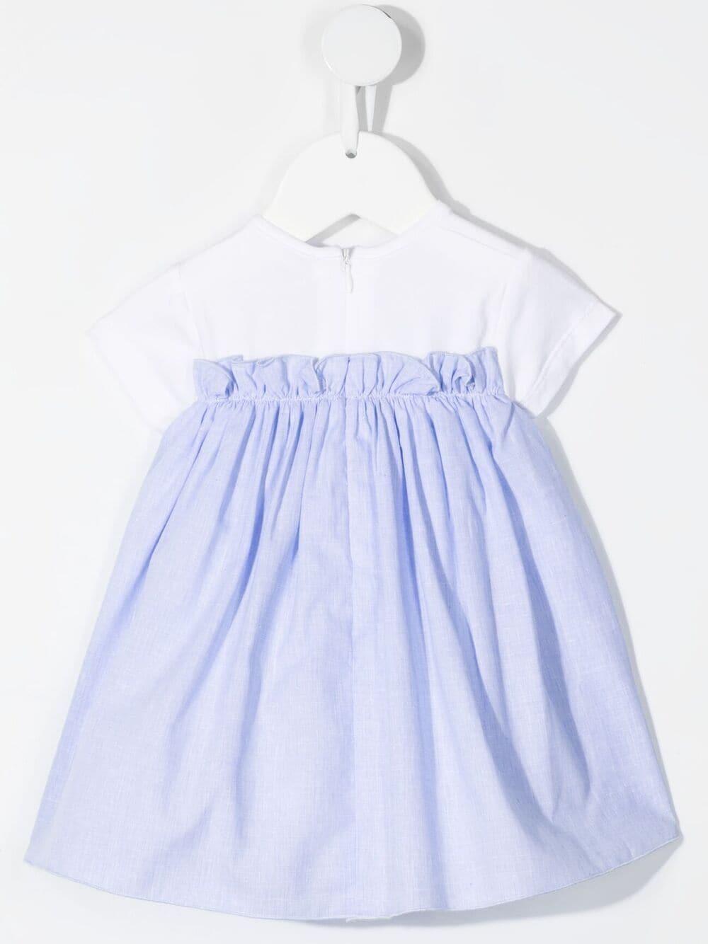 Dress Le Bebè Le Bebè   11   LBG3366BIANCO/CELESTE