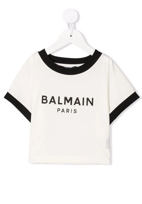 T-shirt crop Balmain kids  BALMAIN PARIS KIDS   8   6P8071Z0003112NET