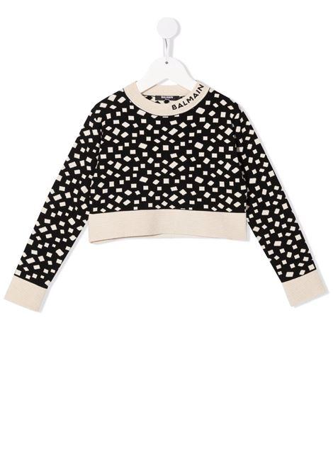 Crop sweater Balmain kids BALMAIN PARIS KIDS | 1 | 6P9000X0001930BGT