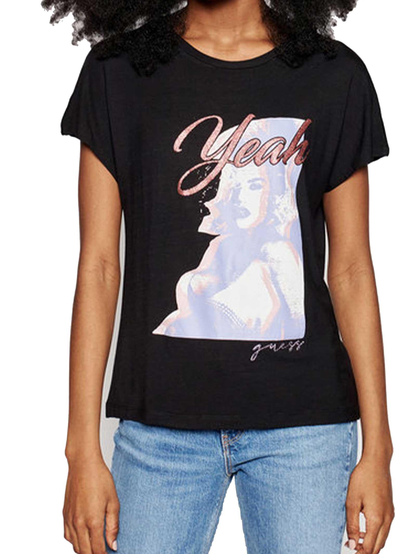 T-SHIRT DONNA GUESS | T-shirt | W1GI0D-K68D2JBLK