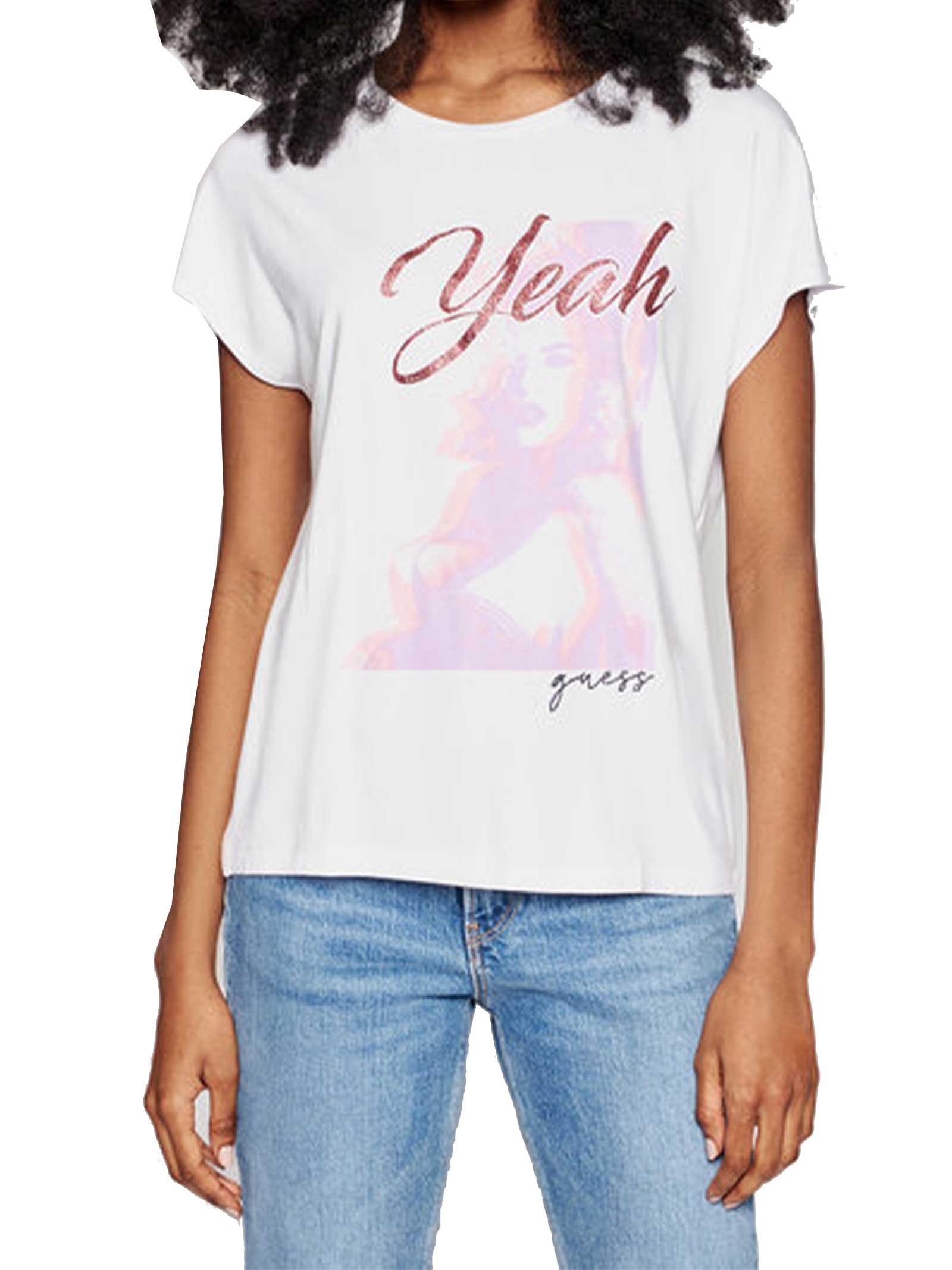 T-SHIRT DONNA GUESS | T-shirt | W1GI0D-K68D2TWHT