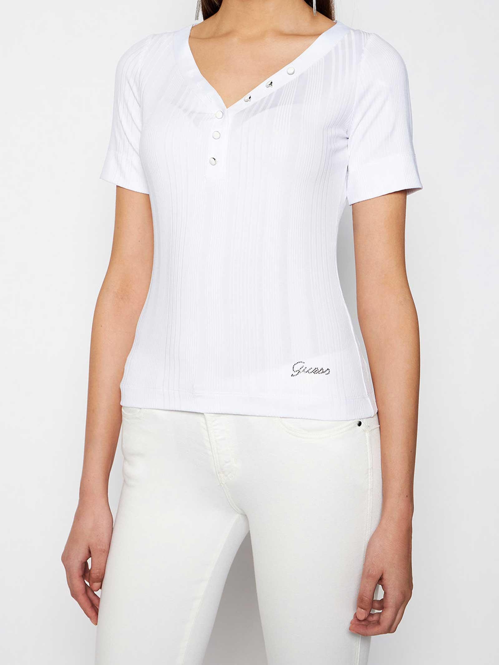 T-SHIRT DONNA GUESS   T-shirt   W1GP83-KAF42TWHT