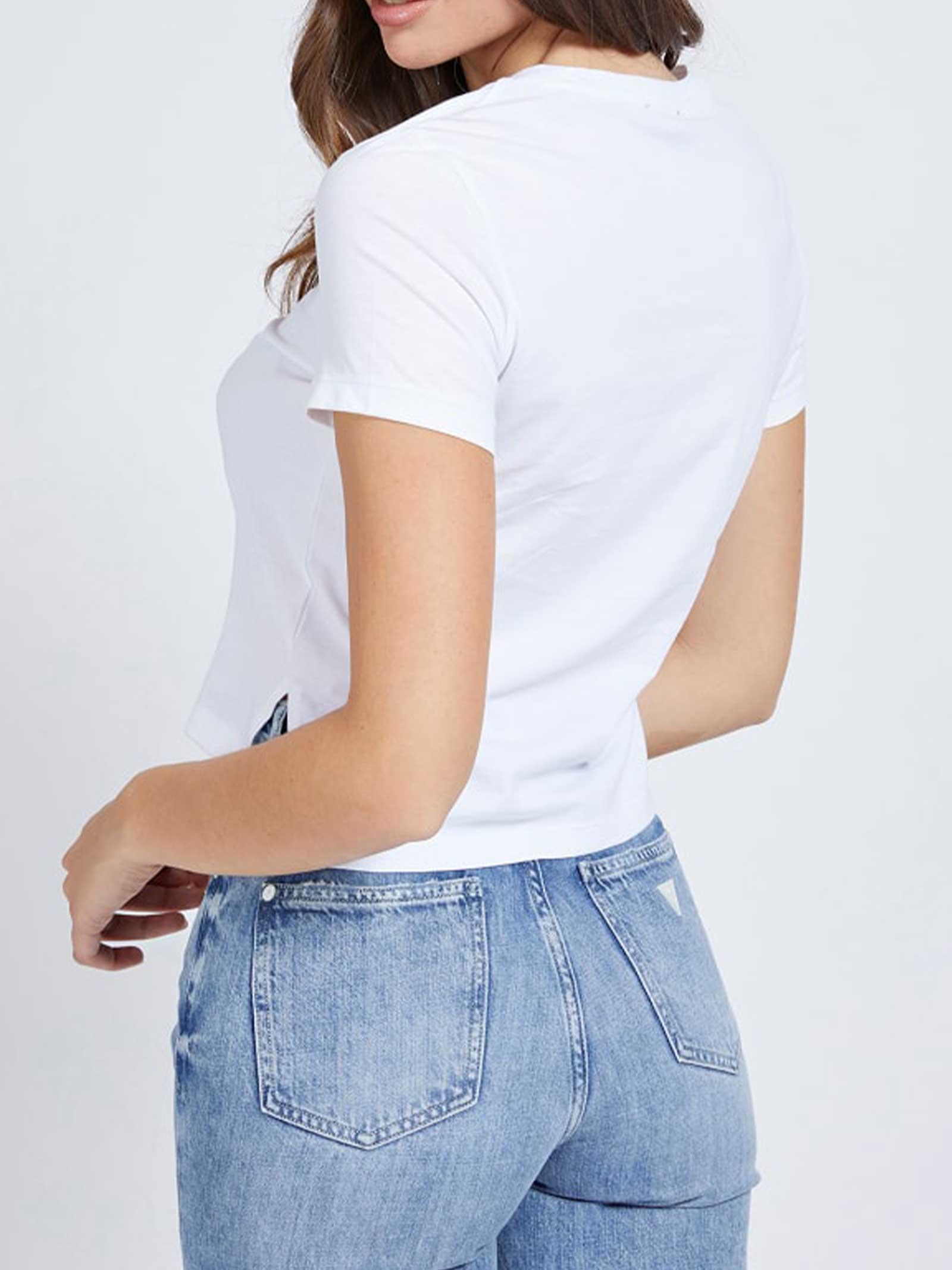 T-SHIRT DONNA GUESS   T-shirt   W1RI05-JA900TWHT