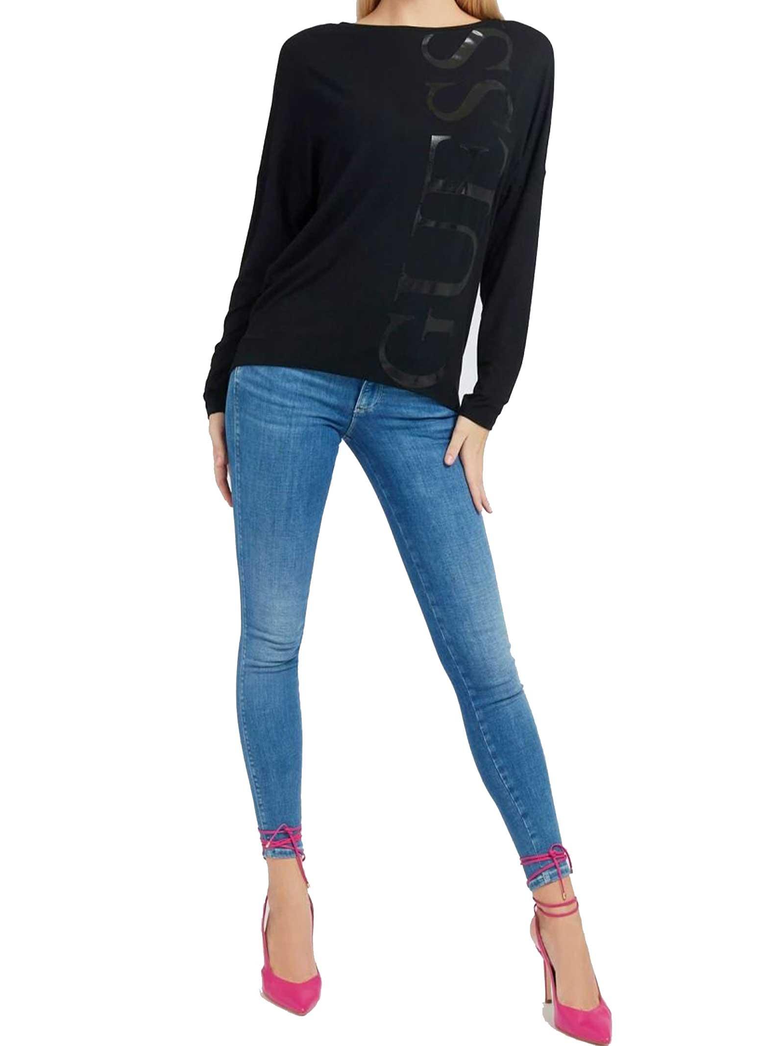 MAGLIA DONNA GUESS   T-shirt   W1RI0A-K68D0JBLK