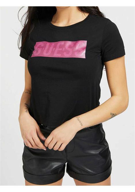 T-SHIRT DONNA GUESS | T-shirt | W1RI05-JA900JBLK