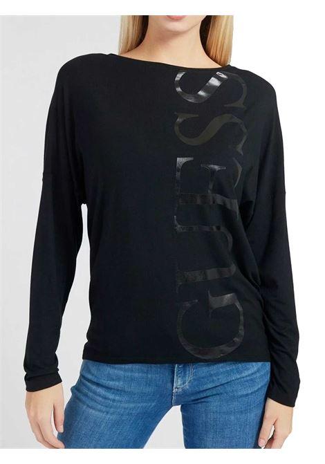 MAGLIA DONNA GUESS | T-shirt | W1RI0A-K68D0JBLK