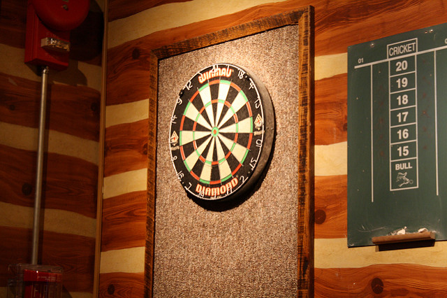game room in bar