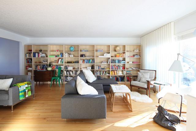 full wall book rack