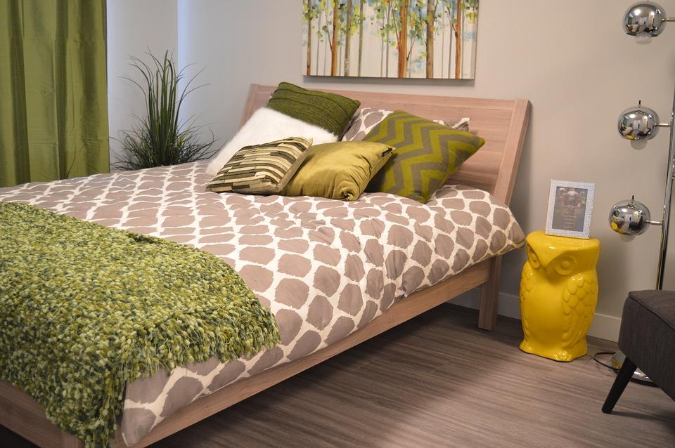 House Interior Bed Pillows