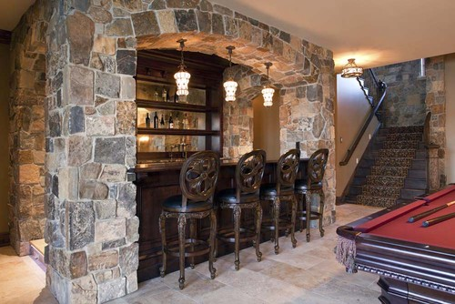 american traditional basement