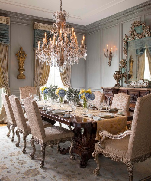 british colonial dining room