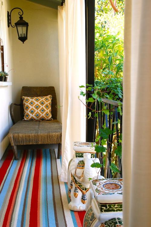 eclectic balcony