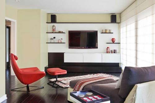 midcentury family room