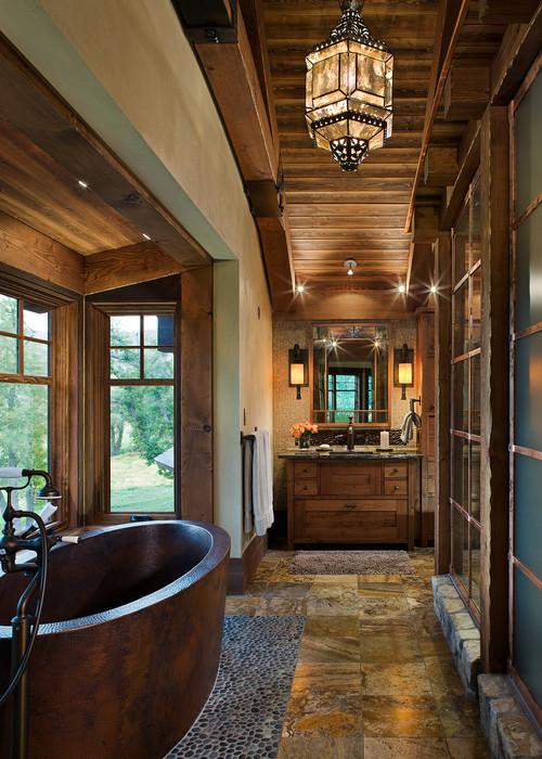 rustic bathroom designs