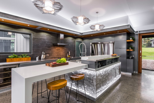Sparkle Your Kitchen With Amazing Light And Decor Plan N Design
