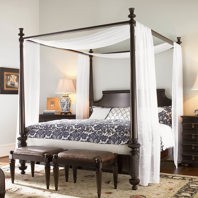 Stylish Bed Headboard With Curtain Canopy