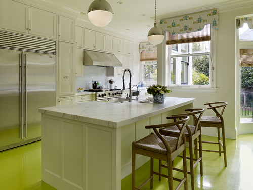 Green kitchen Floor Tiles