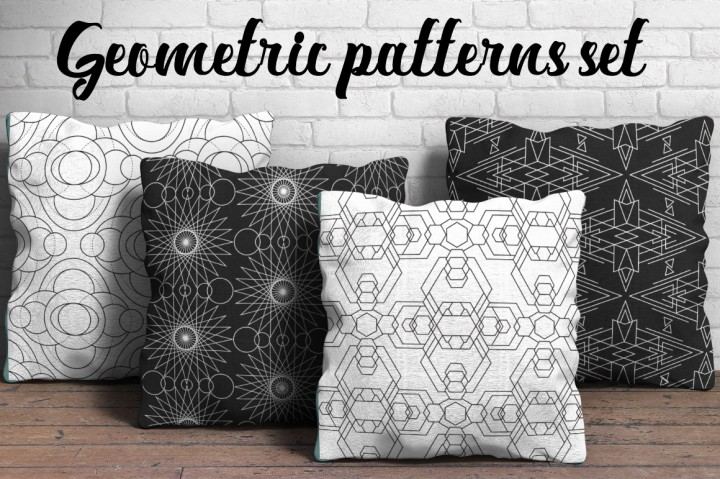 Geometry pattern cushions
