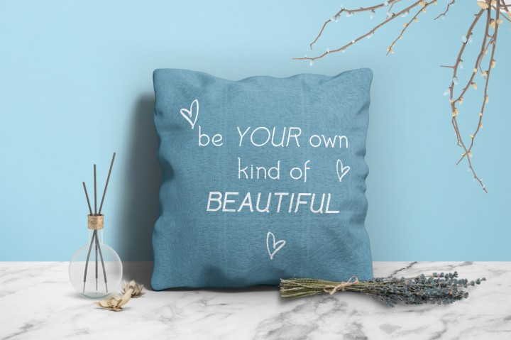 Color and print cushions