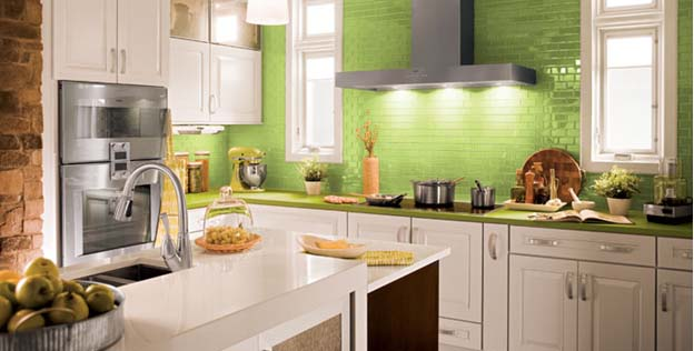 Colorful Counter-tops In Kitchen