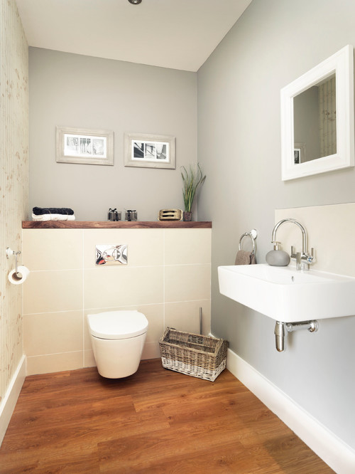 bathroom with wall mounted wc