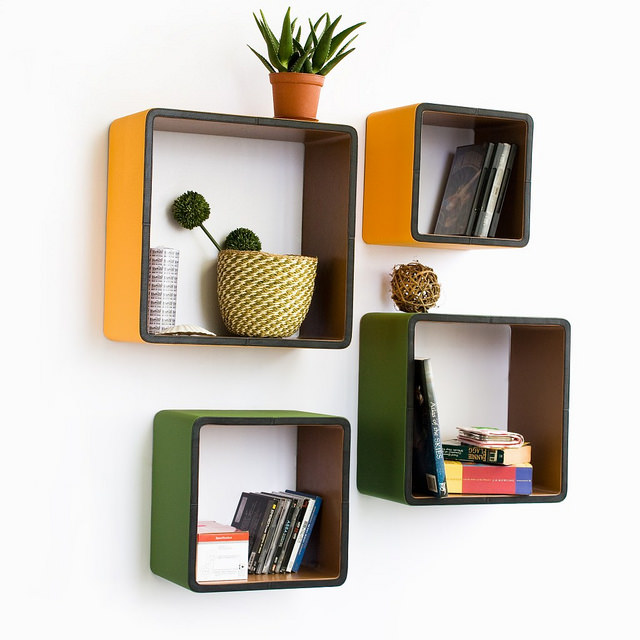 Cube Shape Wall Racks