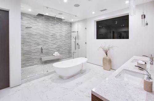 glass in bathroom design