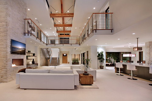 living room with balcony interior