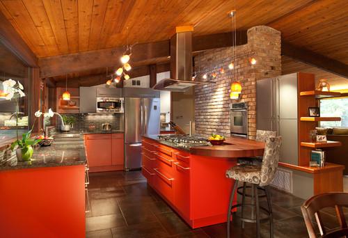 Bright Colored Kitchen Cabinets