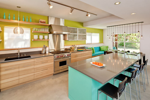Colored Kitchen Backsplash